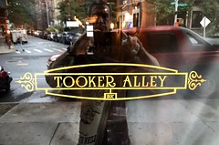 Sign painting for Tooker Alley (Brooklyn, NY) (Seamus Liam O'Brien) Tags: art artist paint painting sign signage lettering text font signpainting signpainter brooklynsignpainter brooklyn new york nyc tookeralley dillpickleclub prospectheights 1shot oneshot windowpainting windowsignage glasslettering glasspainting seamus liam obrien seamusliamobrien liamobrien liamobrienartist artistliamobrien newyorksignpainter bar cocktails speakeasy club jazz jazzbar culture community bk logo barlogo