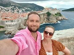 Standing ontop of the redkeep with views over Old City of Dubrovnik.