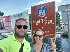 Back in Trogir, 10years after our first visit.