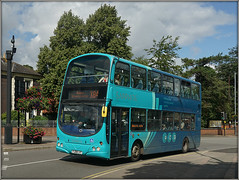 Arriva Midlands 4207 (Jason 87030) Tags: arriva blue turquoise saphire livery 4207 rugby town warks warwickshire wheels wright gemini eclipse x84 doubledecker leicester hinckley bus light sunny 2019 august sapphire sony ilce alpha a6000 lens tag flickr transport