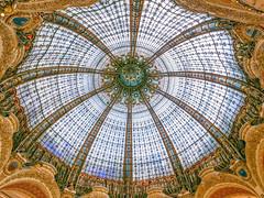 P1000432 (sswee38823) Tags: france paris stainedglass dome mall shopping shoppingmall galerieslafayetteparis galerieslafayette panasonic panasoniclx100