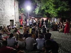 Croud gathering in Mostar.