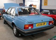 A538 GBF (1) (Nivek.Old.Gold) Tags: 1983 vauxhall cavalier l 4door 1598cc goldstar cannock aca
