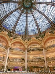 P1000434 (sswee38823) Tags: france paris stainedglass dome mall shopping shoppingmall galerieslafayetteparis galerieslafayette panasonic panasoniclx100