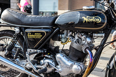 Poole Bike Night-Norton Commando 850 (Caught On Digital) Tags: bikemeet bikers choppers custom dorset motorbikes motorcycles norton poole