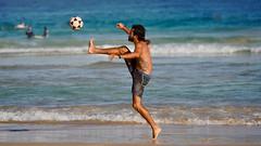 On Any Other Sunday | Bondi Beach Australia (Paul Tocatlian | Happy Planet) Tags: australia beach candidphotography candid ocean happyplanet actionphotography soccer playtime