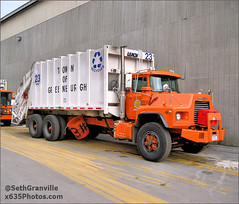 Town of Greenburgh Sanitation Department S23 (Seth Granville) Tags: town greenburgh sanitation mack r leach 1995 garbage truck