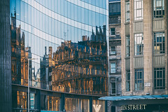 collision (D Cation) Tags: scotland glagow queenstreet ingramstreet glass reflections stone architecture