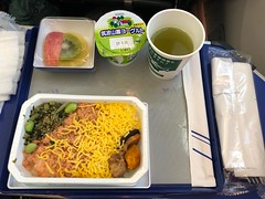 Second meal (seikinsou) Tags: japan spring tokyo narita airport flight brussels ana windowseat premiumeconomy meal food tea