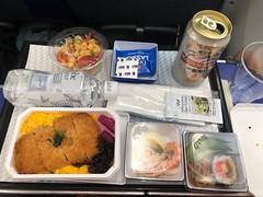 Main meal (seikinsou) Tags: japan spring tokyo narita airport flight brussels ana windowseat premiumeconomy meal food jaoanese beer