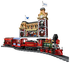 LEGO Reveals Motorized Disney Train and Station Set (fbtb) Tags: 71044 disney train station
