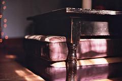 Tanizaki (Jetcraftsofa) Tags: nikonf3 nikkor5014 fuji c200 pushdevelopment pushprocess filmphotography 35mm slr availablelight shadows tanizaki bokeh sliceoflife table sunset