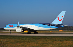 TUI 757 G-BYAW (Infinity & Beyond Photography: Kev Cook) Tags: tui airlines airways boeing 757 aircraft airplane airliner ringway airport manchester man egcc planespotting photos planes
