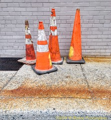 Tough Neighborhood Crew (Zzzzt!Zzzzt!) Tags: crew rough tough cones streetphotography streetage street