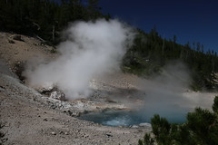 AU3A5560 (MegachromeImages) Tags: yellowstone national park wyoming mountain caldera geothermal hot spring river falls mud volcano steam vent