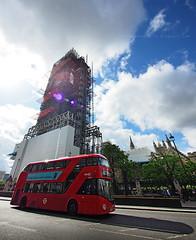 my version of Big Ben and double decker...wel... (Steve only) Tags: olympus pen ep5 panasonic lumix g vario 14714 asph 7144 714mm f4 m43 snap landscape england london big ben double decker