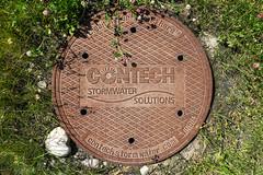 Contech Manhole Cover (Bracus Triticum) Tags: contech manhole cover calgary カルガリー アルバータ州 alberta canada カナダ 7月 七月 文月 shichigatsu fumizuki bookmonth 2019 reiwa summer july