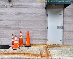 Door Series, Cone collection (Zzzzt!Zzzzt!) Tags: streetphotography streetage street cones doorseries doortraits door