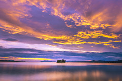 sunset 6561 (junjiaoyama) Tags: japan sunset sky light cloud weather landscape gold yellow purple contrast color bright lake island water nature summer calm dusk serene reflection gorgeous wow