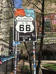 Beginning of Illinois Route 66 in Chicago at Wabash and Adams (Raed Mansour) Tags: chicago route66 illinois historic wabash adams