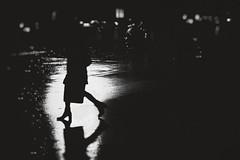 Des pas dans la nuit ... (Blue Celt) Tags: blurry smoke city shadows black white reflet reflect ghost pearls bokeh blue people street france europe wall ombre citizen structures curves vignetage art gris lightroom photography flou portrait bw sombre darkness silvercolors analog efex pro color silver viveza hdr sharpener dfine gost ambiance monochrome surréaliste personnes abstrait noir blanc extérieur architecture profondeur bordure photo explore view texture shade makeup xt3