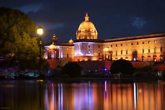 Rashtrapati Bhawan (Mohan.Singh) Tags: rashtrapatibhawan raisinahillnight dusk night delhi newdelhi couple north block india illuminated