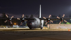 3611 (Kaiserjp) Tags: mexicanairforce fam cascadeaerospace c130 l100 l10030 night longexposure aviation military