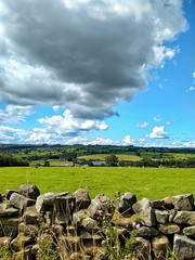 Cobbydale (tubblesnap) Tags: cobbydale silsden snapseed motorola fields scenery landscape yorkshire dales clouds drystone wall summer