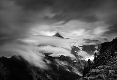 Mount Shuksan (nlwirth) Tags: cascades mountains washington long exposure blackandwhite clouds snow trees sky light nlwirth yup