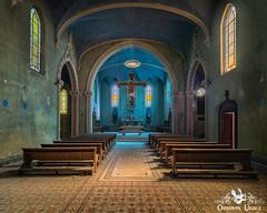Blue Chapel / La Chiesa Blu, Italy (ObsidianUrbex) Tags: abandoned blue chapel church digitalphotography italy monastery photography seminary