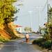 Man Walking Along Mountain Road, Kanpetlet Myanmar