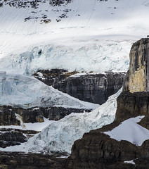 Victoria Glacier Detail, Plain of Six Glaciers (benereshefsky) Tags: banff banffnationalpark lake lakelouise plainofsixglaciers glaciers nature naturalbeauty mountains snow canada alberta par moraine