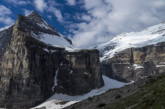 Victoria Glacier, Plain of Six Glaciers (benereshefsky) Tags: banff banffnationalpark lake lakelouise plainofsixglaciers glaciers nature naturalbeauty mountains snow canada alberta par moraine