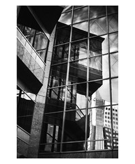 B&W Abstract [Explore 2019-08-15] (Bokehneer) Tags: bw monochromatic abstract architecture glass reflection geometric slanted
