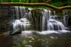Late Summer At Caron Falls - Caron Park (j-rye) Tags: sonyalpha sonya7rm2 ilce7rm2 mirrorless nature waterfall water creek stream rock tree leaves tamron2875