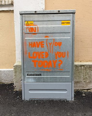 Have you loved you today? (svennevenn) Tags: bergen stencils gatekunst streetart roni