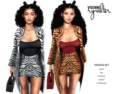 Ryvolter @ Kustom9 - August 2019 (Sanya Bilavio ( Vive Nine / Fiore )) Tags: vive nine secondlife sl beauty avatar tarzana print tiger giveaway kustom9 august freya isis maitreya hourglass legacy