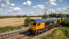66785 (Peter Leigh50) Tags: gbrf great bowden langtons leicestershire farmland field freight countryside rural train trees track railway railroad rail sky clouds class 66 shed canon eos 6d