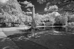 War Memorials great and small on the Green (IanAWood) Tags: converted720nmirsensor digitalinfrared fullspectrumphotography harefield infraredblackandwhite lbofhillingdon nikkorafs1224mmf4gdx nikond70ir walkingwithmynikon westlondon