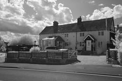 The former White Horse Public House (IanAWood) Tags: converted720nmirsensor digitalinfrared fullspectrumphotography harefield infraredblackandwhite lbofhillingdon nikkorafs1224mmf4gdx nikond70ir walkingwithmynikon westlondon