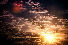 Sky change (Melissa Maples) Tags: antalya turkey türkiye asia 土耳其 nikon d3300 ニコン 尼康 tamron 18400mm f3563 18400mmf3563 diii vc hld sunflare lensflare flare dawn sunrise morning clouds velvetseason summer latesummer sky meltem mso