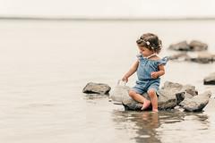little Angel (agirygula) Tags: girl babygirl steinhude steinhudermeer water sea lake stone nature natural jeans jumpsuit tracheostoma health wonder love