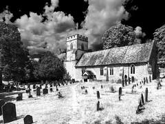St. Peter and St. Paul, Medmenham (Biff_Brown) Tags: church stpeterandstpaul medmenham buckinghamshire thames affinityphoto panasonicg6 samyang samyang12mmf2ncscs lut fauxinfrared monochrome blackandwhite