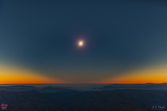 Vista ambiental en el segundo contacto - Lanscape view at second contact (StarryEarth) Tags: eclipse total sol sun umbra corona baily contact contacto fases phases chile 2019