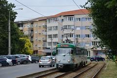 Tatra T4D #45 + B4DM #145 (LukaszL99) Tags: oradea rumunia romania rumänien nagyvárad tatra ckd čkd t4 t4d b4d b4dm magdeburg mvb otl transport local tram tramwaj strasenbahn tramway hängerzug b4