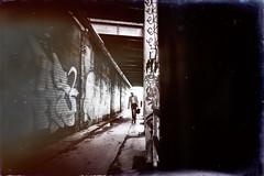 The daily Way to Work (Black&Light Streetphotographie) Tags: street city urban streets water monochrome closeup wow underpass mono dof sony streetshots streetportrait menschen fullframe deepoffield unterführung streetshooting tiefenschärfe schwarzweis menschenbilder streetphotographie vollformat blackandwhite bw blur blackwhite bokeh blurring bokehlicious sonya7rii
