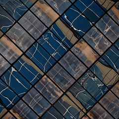 Abstract Reflection (2n2907) Tags: abstract reflection glass office building windows skyscraper architecture graphic design pattern wonky lines blue gray brown