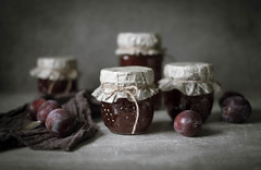 Et voilà... Plum jam! (V Photography and Art) Tags: homemadejam jam plum jar preserve sustainable fruit glass home stilllife tabletop cooking food sweet