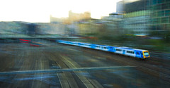 Metro mayhem (alideniese) Tags: icm intentionalcameramovement blur train traintracks urban alideniese melbourne australia