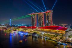 Marina Bay Sands Lightshow (leslie hui) Tags: mbs singapore aerial mavic2pro dji marinabay marinabaysands cityscape nightscape